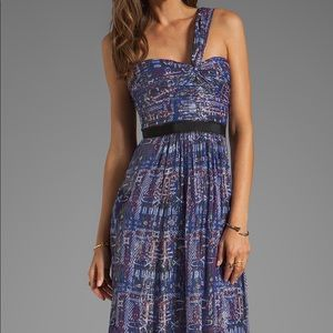 BCBG high low dress in purple